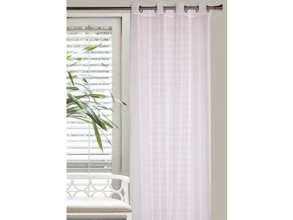 Dekorační vzorovaná záclona CONTI bílá 140x250 cm MyBestHome