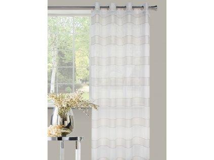 Dekorační vzorovaná záclona NOVA béžová 140x250 cm MyBestHome