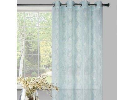 Dekorační vzorovaná záclona KARO mátová 140x250 cm MyBestHome