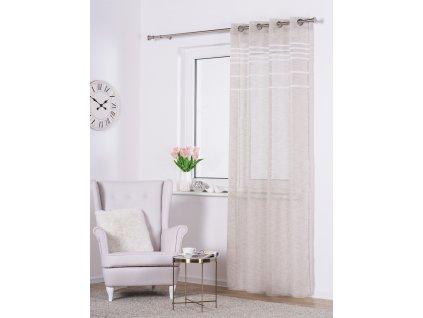Dekorační vzorovaná záclona OSLO béžová 140x250 cm MyBestHome