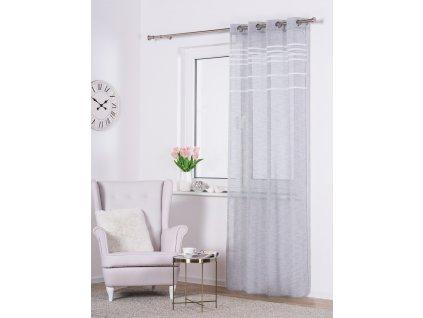 Dekorační vzorovaná záclona OSLO šedá 140x250 cm MyBestHome