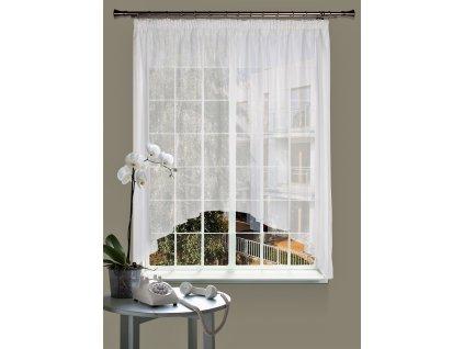 Dekorační oblouková krátká záclona CELINA bílá 290x160 cm MyBestHome