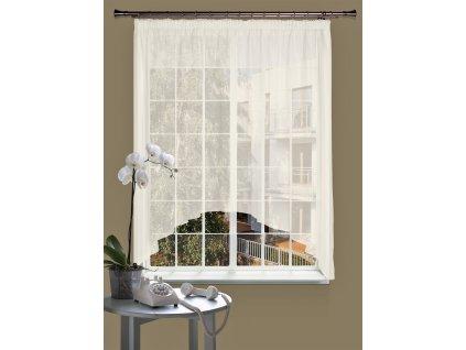 Dekorační oblouková krátká záclona CELINA smetanová 290x160 cm MyBestHome