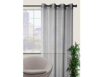 Dekorační záclona s vysokým leskem LUSTER světle šedá 140x250 cm MyBestHome