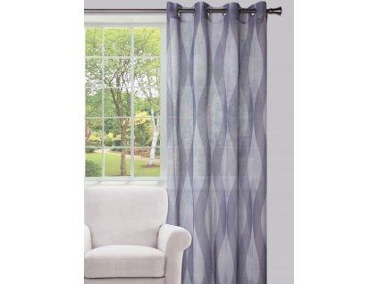Dekorační vzorovaná záclona VOYAGE 130x250 cm MyBestHome