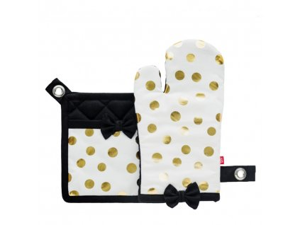 Kuchyňská rukavice/chňapka GOLDI 2, 18x30 cm/20X20 cm HOME & YOU, 100% bavlna