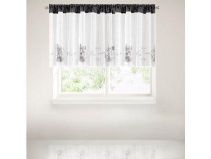 Krátký dekorační závěs - vitrážka LETTRE 90x150 cm MyBestHome