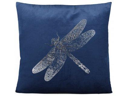 Polštář DRAGONFLY modrá 45x45 cm Mybesthome