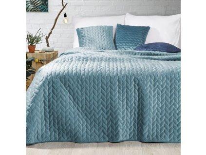 Přehoz na postel EMILY 200x220 cm modrá Mybesthome