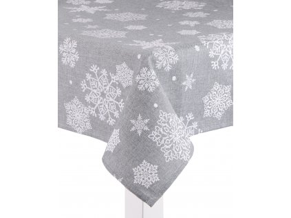 Ubrus SNOW FLAKE, 130x180 cm, světle šedá, ESSEX