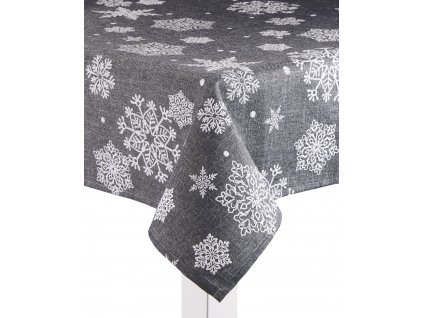 Ubrus SNOW FLAKE, 130x180 cm, tmavě šedá, ESSEX