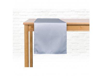 Ubrus - běhoun na stůl MARCELLO, 35x180 cm, světle šedá, ESSEX