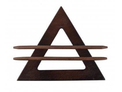 Dekorační ozdobná spona na závěsy z přírodního dřeva ALIDA, tmavě hnědá, 21x21x21 cm Mybesthome
