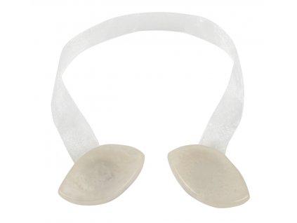 Dekorační ozdobná spona na závěsy s magnetem INTERIA - C krémová, 6,5x3,2 cm, 2 kusy v balení Mybesthome