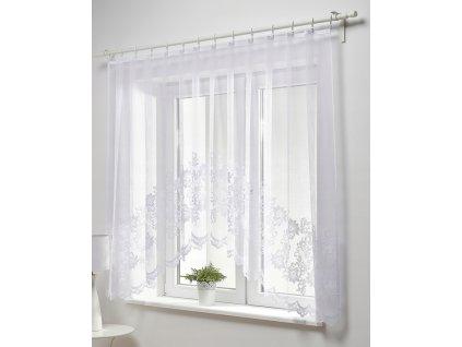 Dekorační oblouková krátká záclona MAGDA bílá 300x150 cm MyBestHome