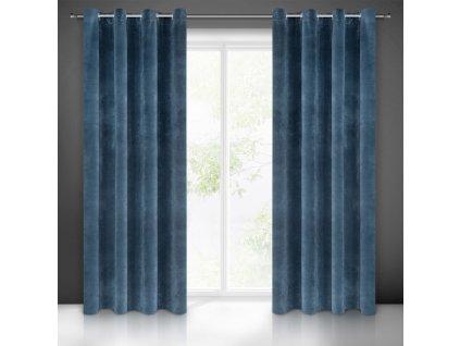"""Dekorační závěs """"BLACKOUT"""" zatemňující VERMONT 140x245 cm, granátová modrá, MyBestHome"""