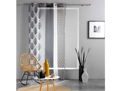 Dekorační záclona SEGOVIA se vzorem s kroužky 140x240 cm MyBestHome