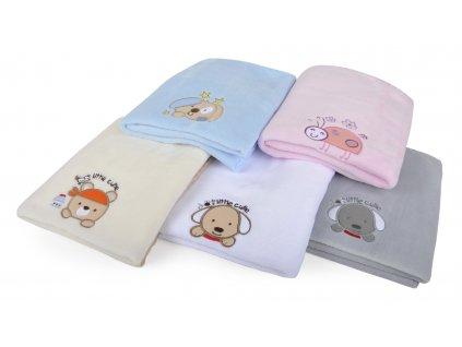 Dětská deka s aplikací DITA smetanová 80x90 cm Mybesthome