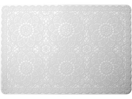 Prostírání BISETTE bílá 30x44,5 cm Mybesthome