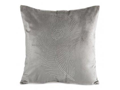Polštář PLUMA stříbrná 40x40 cm Mybesthome