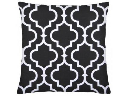 Bavlněný polštář MAROKO černá 40x40 cm, Mybesthome