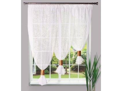 Dekorační oblouková krátká záclona TREMINA bílá 300x160 cm MyBestHome