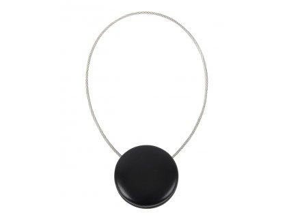 Dekorační ozdobná spona na závěsy s magnetem CASCA, černá, Ø 3,5 cm Mybesthome
