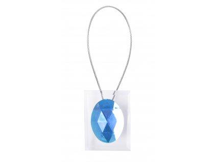 Dekorační ozdobná spona na závěsy s magnetem LISA, modrá, 5,5x4 cm Mybesthome