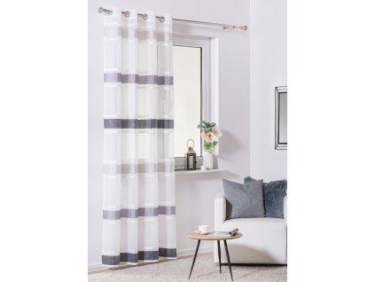 Dekorační záclona RAYA bílá/šedá 140x250 cm MyBestHome