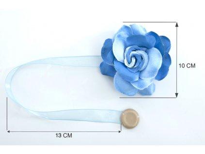 Dekorační ozdobná spona na závěsy s magnetem VERONICA, modrá, Ø 10 cm 2 kusy v balení Mybesthome