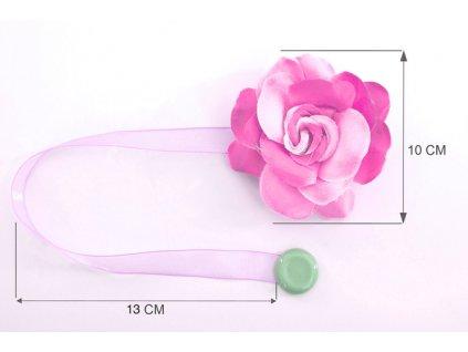 Dekorační ozdobná spona na závěsy s magnetem VERONICA, růžová, Ø 10 cm 2 kusy v balení Mybesthome