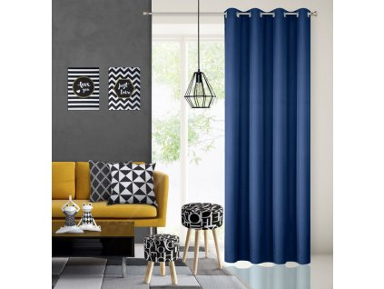 Dekorační závěs EASY TOP modrá 1x140x250 cm MyBestHome