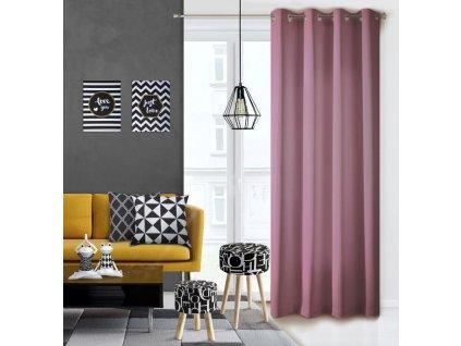 Dekorační závěs EASY TOP tmavá růžová 1x140x250 cm MyBestHome