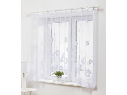 Dekorační oblouková krátká záclona KAROLA bílá 300x150 cm MyBestHome