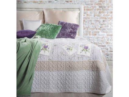 Přehoz na postel ROSE BLANCHE 220x240 cm lila patchwork Mybesthome