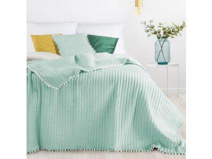 Přehoz na postel MIAMI 220x240 cm mátová Mybesthome