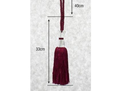 Dekorační ozdobný úvaz - šňůra na závěsy RUBY 40 cm Mybesthome