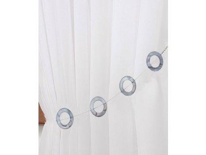Dekorační ozdobný lankový perleťový úvaz na závěsy VITORIA-A 34 cm Mybesthome