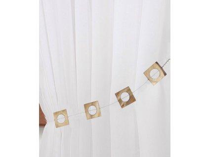 Dekorační ozdobný lankový perleťový úvaz na závěsy VITORIA-B 34 cm Mybesthome
