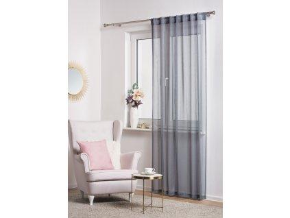 Dekorační vzorovaná záclona TIGA šedá 140x245 cm MyBestHome