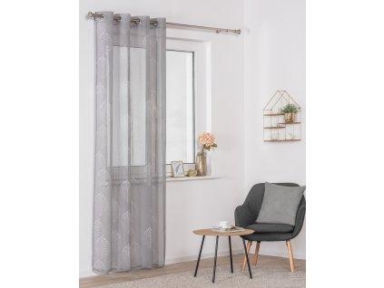 Dekorační luxusní záclona SALAL šedá 140x245 cm MyBestHome