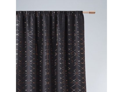 Dekorační vzorovaný závěs s řasící páskou BRILIANTOS tmavě šedá 140x250 cm (cena za 1 kus) MyBestHome