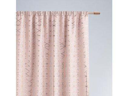 Dekorační vzorovaný závěs s řasící páskou BRILIANTOS růžová 140x250 cm MyBestHome