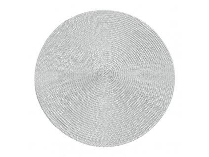 Prostírání kulaté JUDYTA stříbrná Ø 38 cm Mybesthome