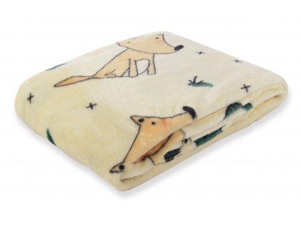 Dětská deka CARTOON PETS pejsek 80x110 cm Essex