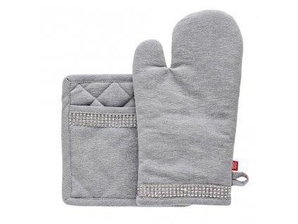 Kuchyňská rukavice/chňapka DIAMOS, 18x30 cm/20X20 cm HOME & YOU, 100% bavlna