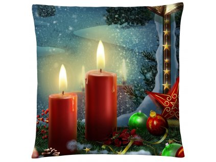 Polštář CHRISTMAS CANDLES Mybesthome 40x40 cm
