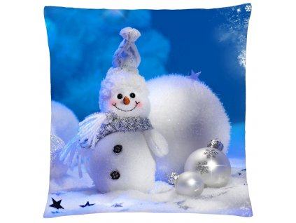 Polštář HAPPY SNOWMAN Mybesthome 40x40 cm
