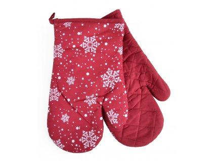 Kuchyňské rukavice chňapky CHRISTMAS DE LUXE červená 19x30 cm Essex