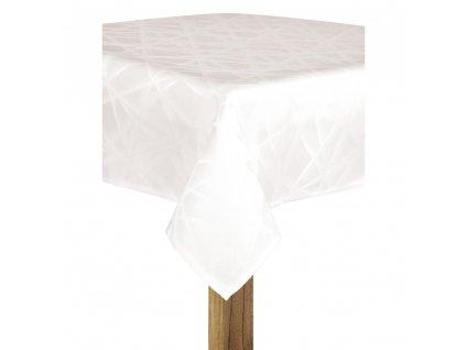Ubrus BECKY bílá, 145x220 cm, 130x180 cm motiv A ESSEX